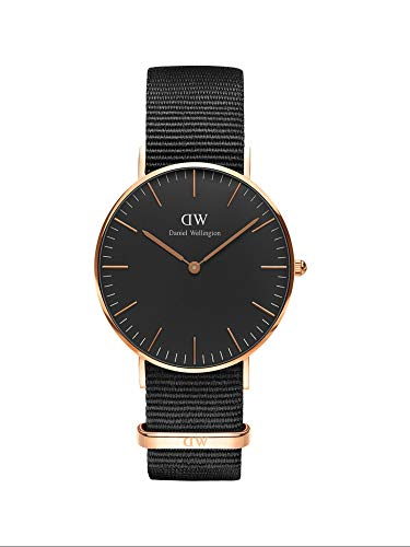 Daniel Wellington Classic Cornwall Rose Gold Watch, 36mm, Nato, for Men and Women
