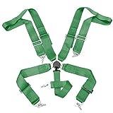オートカーシートベルトカムロックシートベルト付き4つの5 6点式シートベルトスポーツレーシングハーネス安全ベルトの座席ハーネス (Color : Green, Size : 5PS)