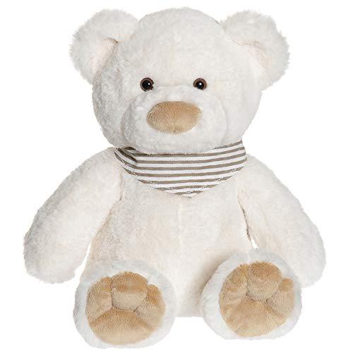 """Teddykompaniet 2897 Teddybär """"Malte"""" Weiß 35 cm – Plüschtier Kuscheltier für Babys - Stofftier Eco-Friendly - super Soft Oeko-Tex - ab Geburt"""