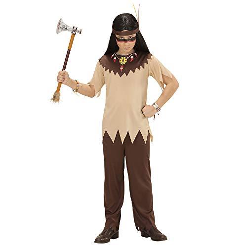 WIDMANN- Disfraz Infantil de Indio, Color marrón, 128 (07216)