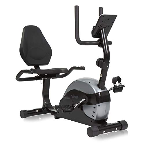 Vive Recumbent Exercise Bike - Stationary Cycle Device for Seniors, Adults, Men and Women - Indoor Fitness Equipment - At Home Upright Cycling with Adjustable Resistances and Digital Display