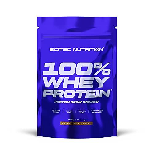 Scitec Nutrition 100% Whey Protein, Bebida en polvo de concentrado de proteína de suero con edulcorantes, sin azúcar añadido, sin gluten, sin aceite de palma, 1 kg, Cookies & Cream