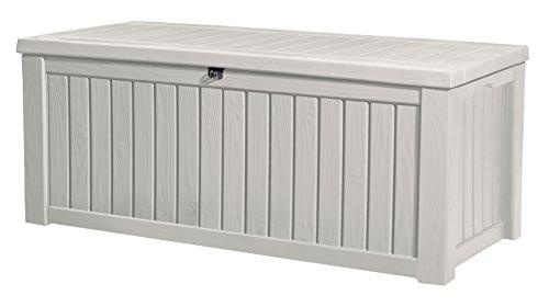 Keter Jumbo Deck Box Plastic Garden Storage Box White - 570 Liter Fassungsvermögen