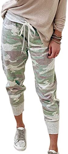Shawhuwa Cute Pants for Teen Girls Trendy Camo Patterned Casual Pants Capris Autumn Long Sweatpants product image