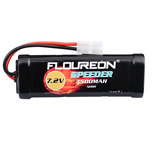 Rechargeable 6 cells Ni-MH 7.2V 4600mAh Gold Plug Battery for RC Cars