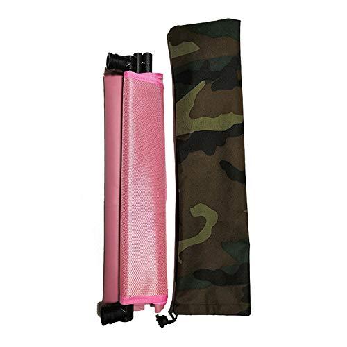 Wankd - Lettino prendisole portatile, pieghevole, con schienale, per giardino, parco, viaggi, escursioni, picnic e campeggio, Rosa, 150 * 38 * 46cm