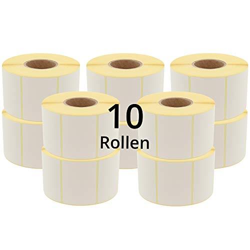 Labelident Waagenetiketten - 58 x 43 mm - 10400 BPA-freie Thermodirektetiketten auf 1,57 Zoll Rolle, matt, permanent, Thermoetiketten Bizerba, DIGI, Hobart Waagen