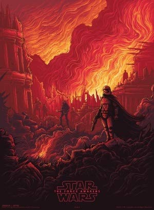 Star Wars : The Force Awakens - US Movie Wall Poster Print - A4 Size Plakat Größe Episode 7 VII Imax