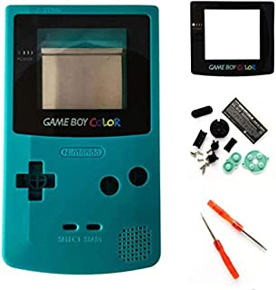 Coque de Remplacement complète avec Boutons et vis pour Nintendo Gameboy Couleur GBC-Teal