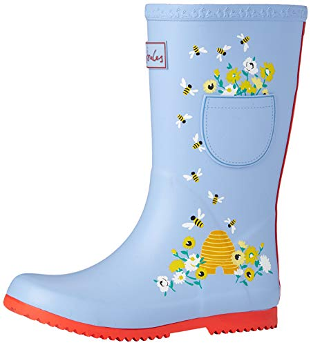 Joules boys Rain Boot, Blue Bees, 12 Little Kid US