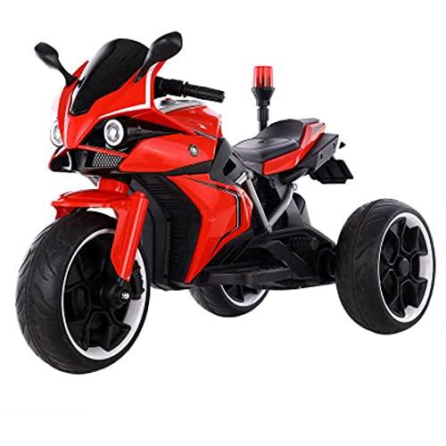 Tastak Los Niños Montan En Motocicleta, Triciclo De Motocicleta con Batería De 6 V con Bocina, Faro De Policía, Diseño De 3 Ruedas, Avance/Retroceso, Regalo para Niños Y Niñas
