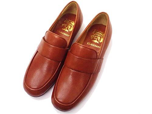 [ショセ] C-2257 ブラウン BROWN ローファー 靴 レディース スクエアトウ スリッポン (measurement_25_point_0_centimeters)