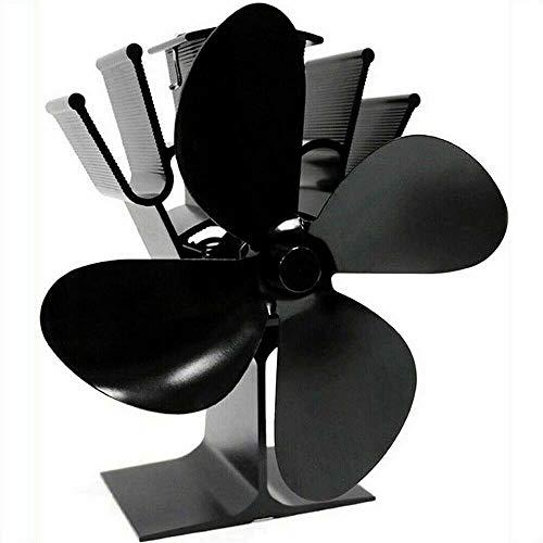 BAQI 4 Klingen nur Holzofen-Ventilator, Ersatz-Lüfter, elektrischer Ofenventilator für Holzofen, Kamin