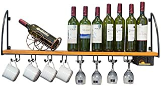 ZHXYY Organiser Les casiers à vin muraux en Bois de Cuisine/étagère Support de Rangement de Bouteille de vin de Cuisine Ét...