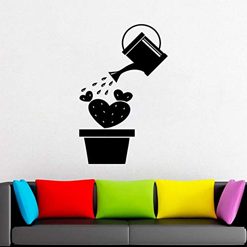 JXND Kaktus Vinyl Wandaufkleber Dorn Blume Pflanze Geschenk Wanddekoration Moderne Wohndekoration Einfach Niedlich und Interessant Hausdekoration 57x89 cm