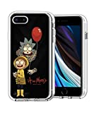 RXDong Claro Funda para iPhone 7 Plus/8 Plus,5.5 Pulgada TPU Apple iPhone 7 Plus/8 Plus,con Morty Rick Artwork Diseño A Prueba de Golpes de Protección Personalizada Teléfono Covers