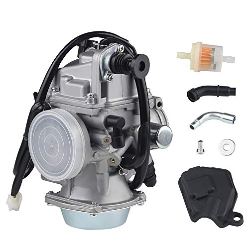 WATERWICH Compatible with Carburetor Honda 350 Rancher TRX350TM/TE/FM TRX300FW ATV 2000-2006 Carb with Filter Throttle Base Cover & Screw Kit