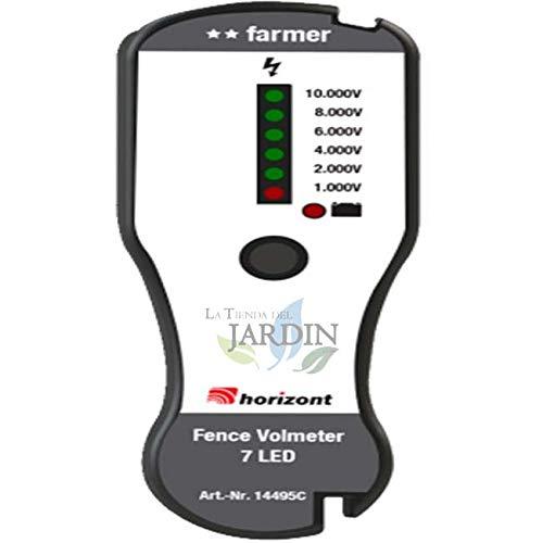 Suinga - Misuratore di tensione per pastori e recinti elettrici con indicatori LED ad alta luminosità