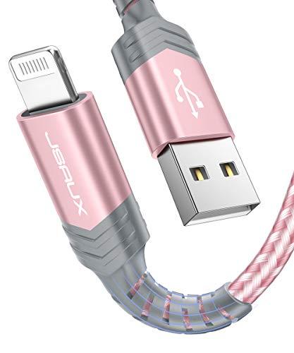 JSAUX Cable iPhone [Certificado MFi C89] 1.8M Duradero Cable de Carga iPhone...