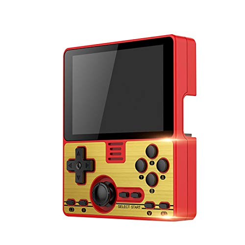 Newest RGB20 Handheld Game Console|Classic Retro Game Player| HD 3.5 Inches IPS Screen|Music&Video Players|10000+Classic Games|3000mAh Battery|Birthday Gift for Kids Adults,Red