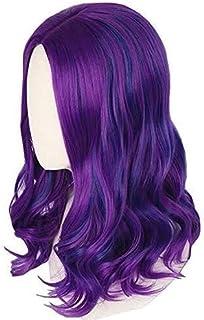 Achket Mal wig Inspired by Descendants 3 for Girls Kids Purple and Blue Wig Halloween Fancy Dress Costume Wig (Color : Adu...