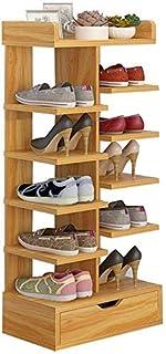 CXVBVNGHDF Étagère à Chaussures Multicouche Pantoufles étagères de Rangement étagère Organisateur Bois MDF Panneau Stable ...