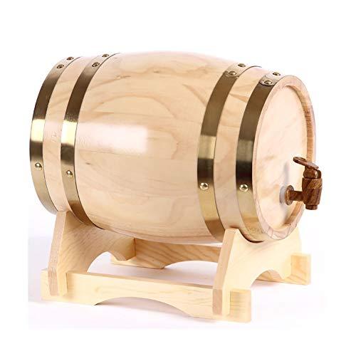 Ann-Portaghiaccio Botte di Rovere in Legno di Vino Barilotto di Legno di Botte di Rovere, Dispenser a Vino Botte Legno, per Vino, Botte di Legno per Vino Whisky Bränd (Color : D, Size : 5L)