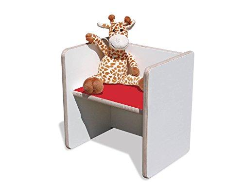 Wendehocker-enfant-blanc avec assise ultra solide-rouge