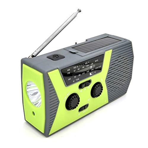 CZX Solar Power Main Cranked Multifonctions Manuel Radio Solaire de Charge Radio Lampe de Lecture avec Lampe de Poche,B