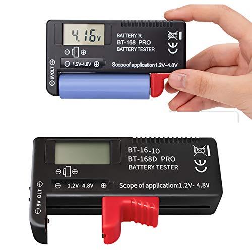 ZffXH probador de batería 2 unids universal portátil comprobador de batería para AA AAA C D 9 V 3.7 V 1.5 V 18650 pantalla digital pequeñas baterías botón celular