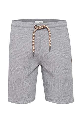 !Solid Nafko Herren Sweatshorts Kurze Hose Jogginghosemit Kordelzug Regular Fit, Größe:M, Farbe:Grey Melange (1840051)