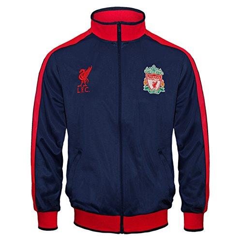 Liverpool FC - Jungen Trainingsjacke im Retro-Design - Offizielles Merchandise - Geschenk für Fußballfans - Dunkelblau - 8-9Jahre (M)