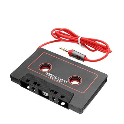 fedsjuihyg Cinta MK008 Coche 3.5mm Tape Converter Adaptador de Cassette Audio del Coche del Casete para el Aux Adaptador Smartphone Accesorios para automóviles Negro