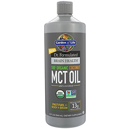 Garden of Life, Dr. Formulated Brain Health, 100% Organic Coconut MCT Oil, Unflavored, 32 fl oz (946 ml)