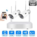 MRXUE Wireless 2-Way 2 megapíxeles Monitor Set HD Home Monitor Compatible con Android/iOS/PC,1.3millionpixels