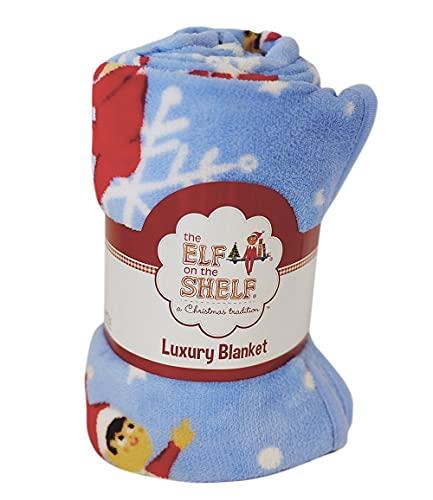 Elf on the Shelf Snowflakes Coral Fleece Luxury Blanket   Elf on the Shelf Accessories   Kids Blanket   Girls Blanket   Boys Blanket   Christmas Blanket   Super Soft Blanket Bed Throw