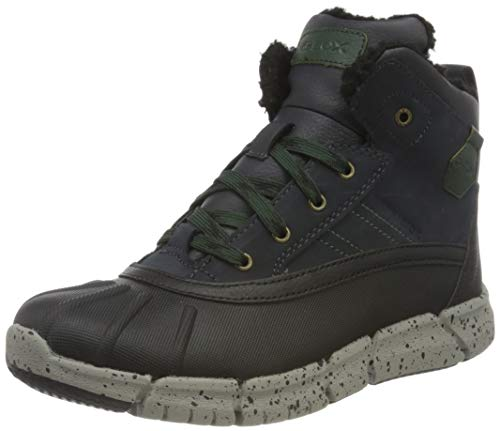 Geox J FLEXYPER Boy B ABX Chukka Boot, Blau (Navy/Dk Green), 32 EU