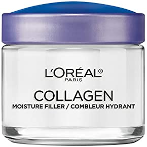 Collagen Face Moisturizer by L'Oreal Paris Skin Care, Day and Night Cream, Anti-Aging Face Cream to Smooth Wrinkles, Non-Greasy