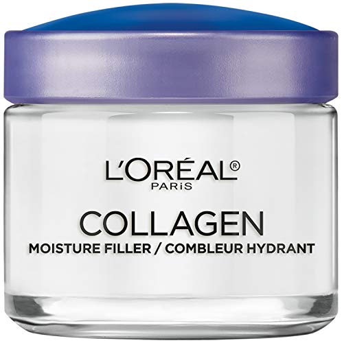 Collagen Face Moisturizer by L'Oreal Paris Skin Care I Day and Night Cream I Anti-Aging Face Cream to Smooth Wrinkles I Non-Greasy I 3 4 Ounce (Packaging May Vary)