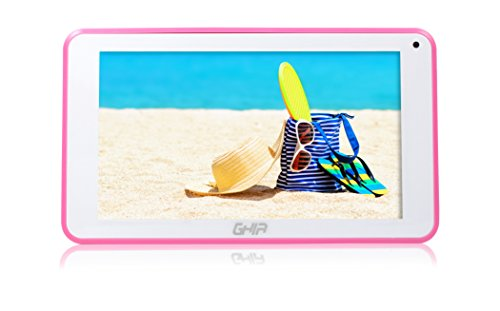 GHIA Tablet A7 WiFi T7718ROS, 5PTOS, Quad, 1GB de RAM, 8GB de Almacenamiento, 2 Cámaras, WiFi, Android,…