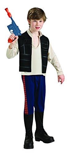 Star Wars - Disfraz de Han Solo para niño, infantil 3-4 años (Rubie's 883160-S)