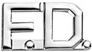 First Class Fire Department FD Collar Lapel Pin Insignia (Pair)