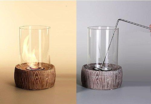 Glasfeuer Tischkamin Feuerstelle Kamin Tischfeuer Bio Ethanol (Viktor)