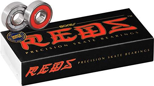 Bones Bearings Reds Skate Bearings (8mm, 16-Pack)