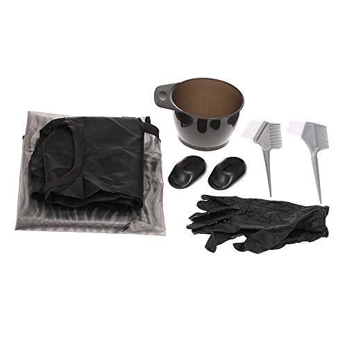 Anself Kit de teinture pour les cheveux, 7pcs Kit de Outils de Cheveux Coloration, Pinceau Bol Tablier de Salon Gant Cache d'oreille Outil de Teinture