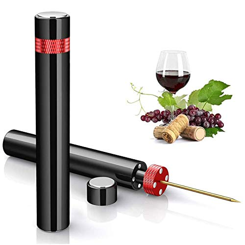 Haudang Abridor de botellas de vino con bomba de presión, fácil extracción del sacacorchos, gran regalo para los amantes del vino.