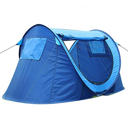 GFBVC Camping Tent Portable Waterproof Tent Instant Pop Up Family Camping Tent Picnic Fishing Hiking Traveling (Color : Blue, Size : One Size)