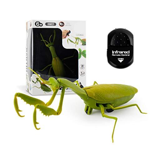 億騰 リモコン昆虫 擬似昆虫 てんとう虫/カメ/サソリ/カブトムシ/かまきり/ミツバチ 赤外線リモコン電子ペット リモコン付き クリエイティブ 電動おもちゃ いたずら玩具 プレゼント (かまきり)