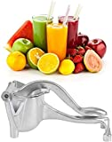 Exprimidor de Limón Manual, Exprimidor de Frutas de Acero Inoxidable, Exprimidor Manual de Cítricos con Fruta, Gran Capacidad, Principio de Palanca, Pomelo,Naranja,Exprimidor de Jugo