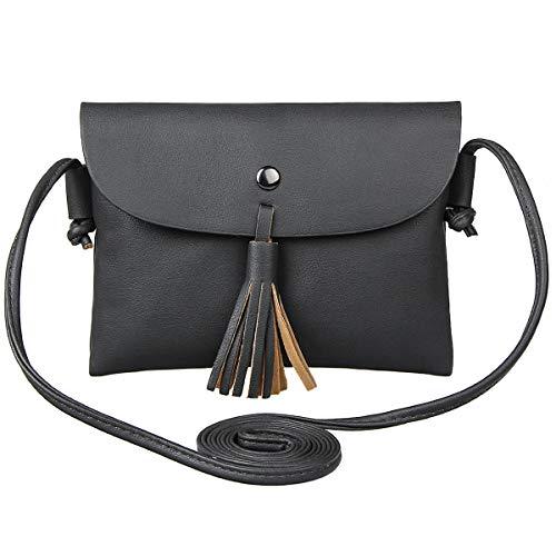 Xidan Damen Briefumschlag-Stil Einzel Schultertasche Handtasche aus PU Leder mit Quaste für iPhone 6 7 8 Plus X, Samsung Note2 3 4 5 8, S5 S6 S7 Edge S8 S9 Plus, LG G3 G4 G5
